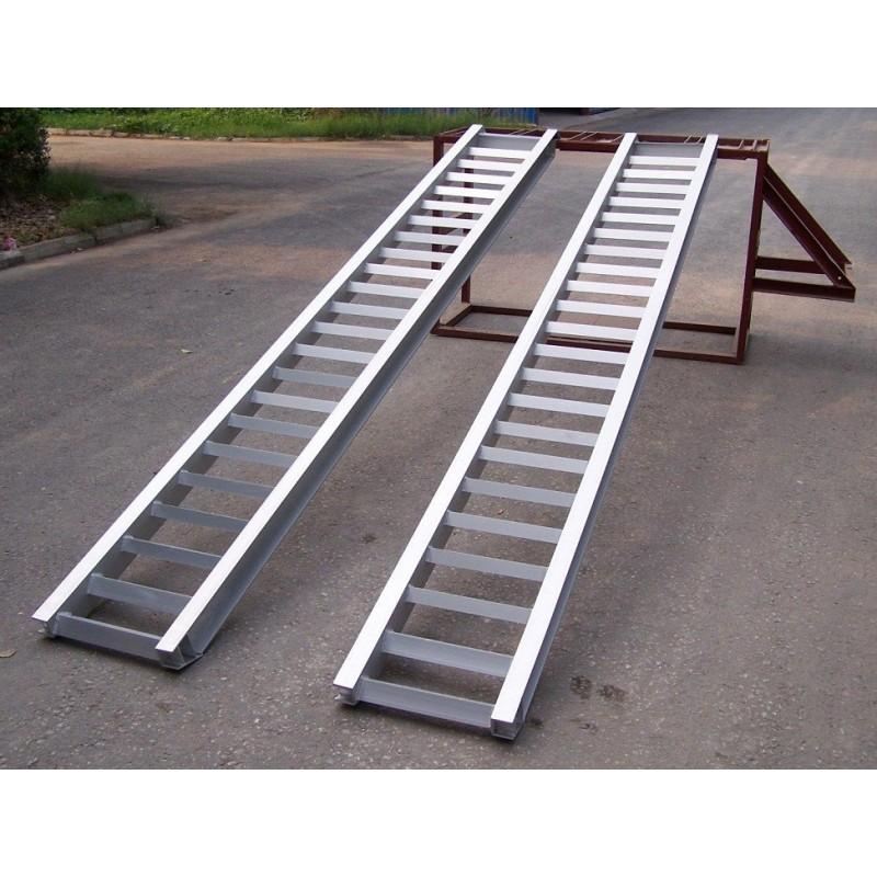 Coppia di rampe in alluminio per carico e scarico for Rampe di carico in alluminio pieghevoli